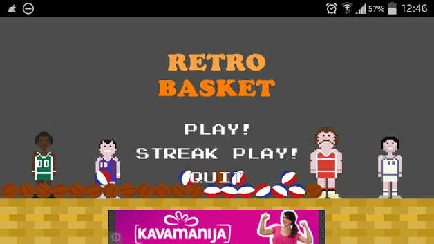Retro Basketball Main Menu